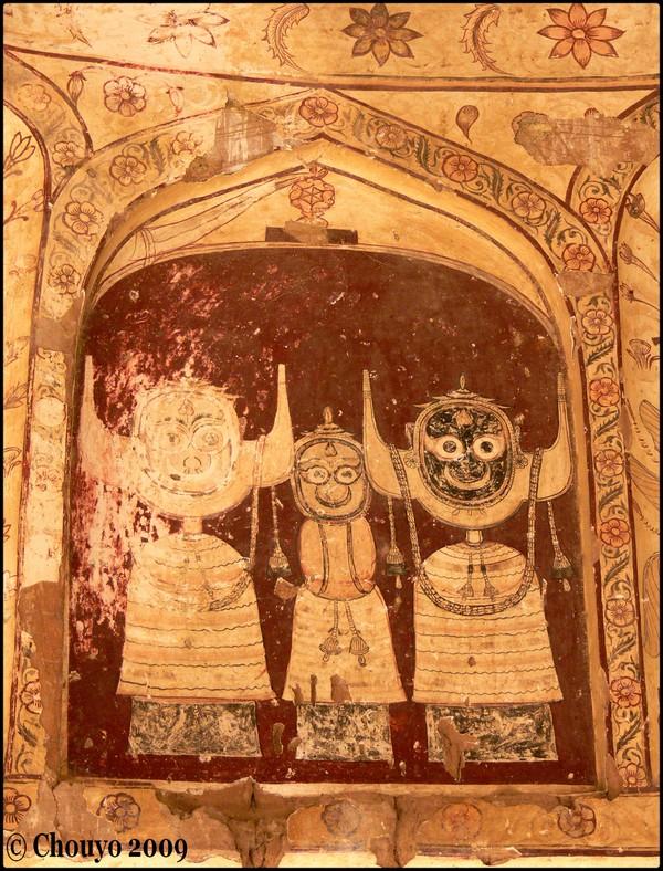 Fresques Rama et Sita