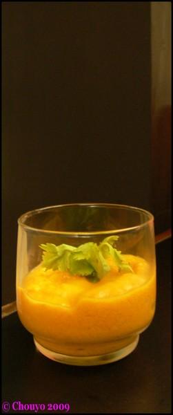 Soupe carottes lait de coco