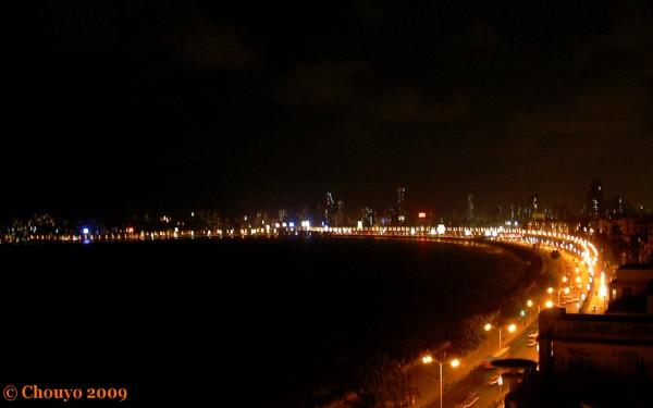 Bombay Marine Drive de nuit