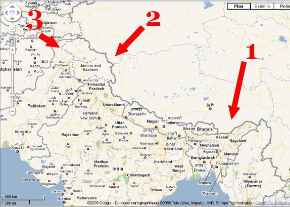 Inde vue par la Chine