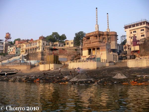 Bénarès ghats de crémation