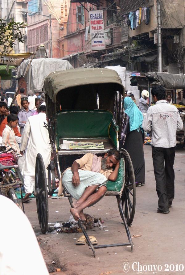 Calcutta rickshawwallah
