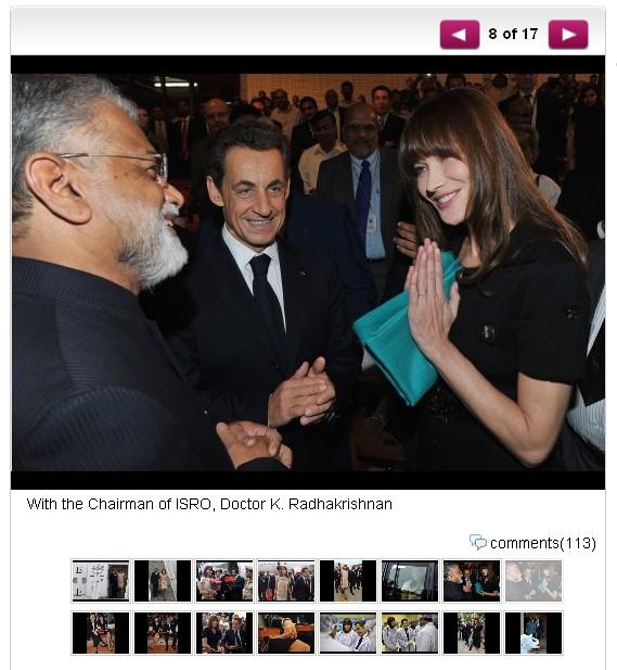 Carla Bruni-Sarkozy Inde