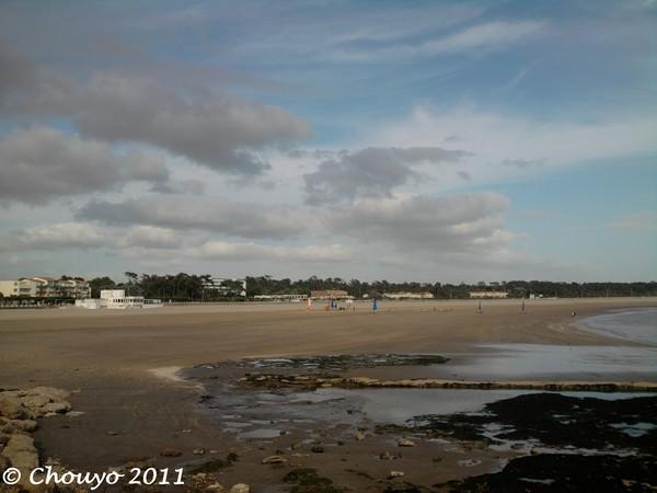 Nuages sur la plage