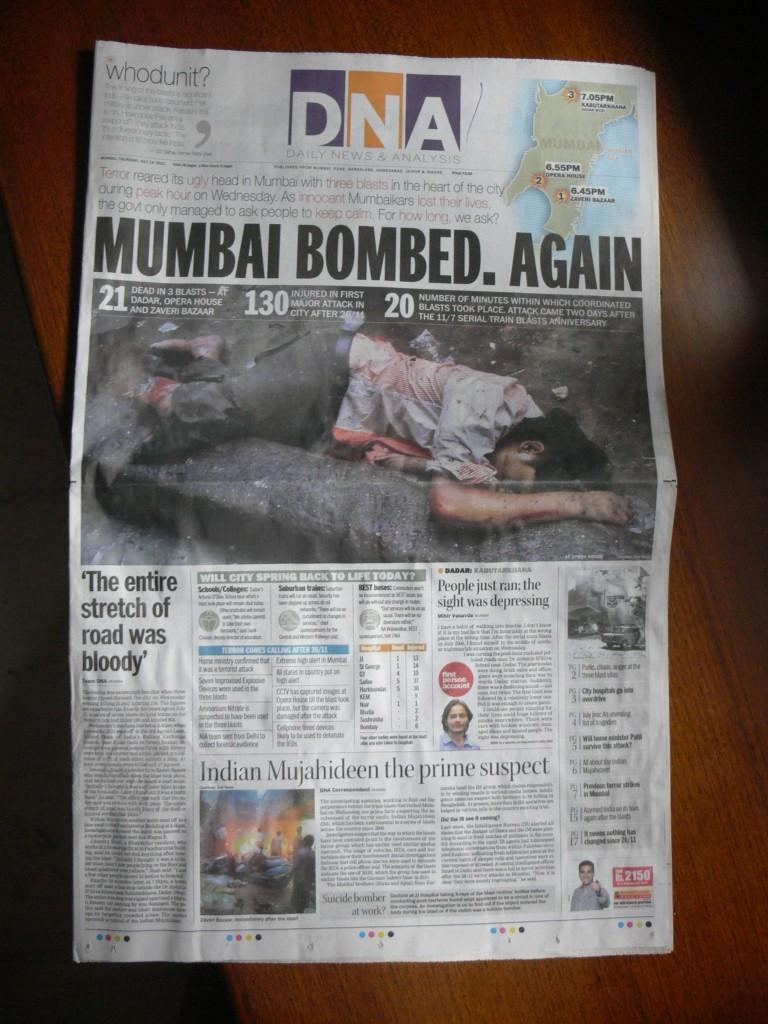 Mumbai DNA 13 juillet 2011