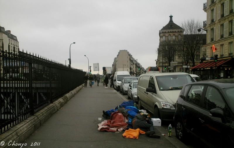 Paris Dormeurs de rue blog