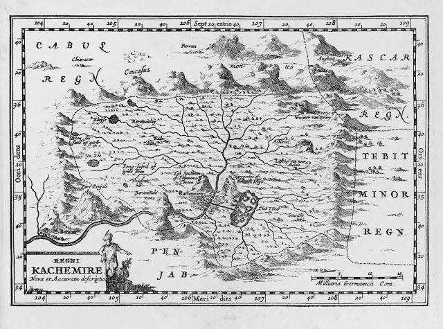 Carte du Cachemire Bernier