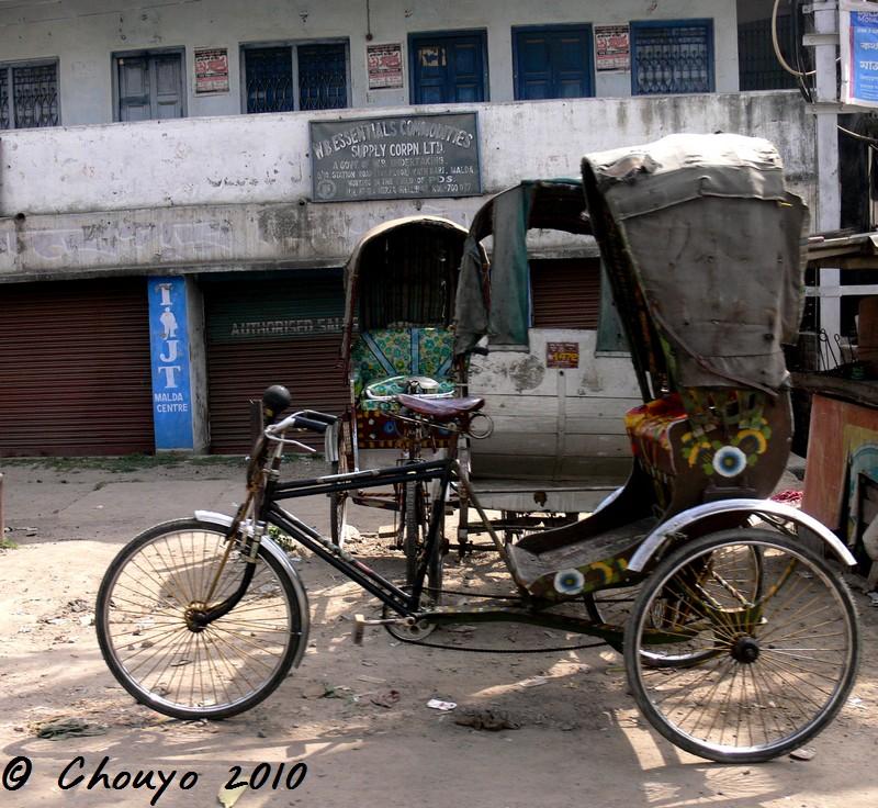 Inde Malda Rickshaw