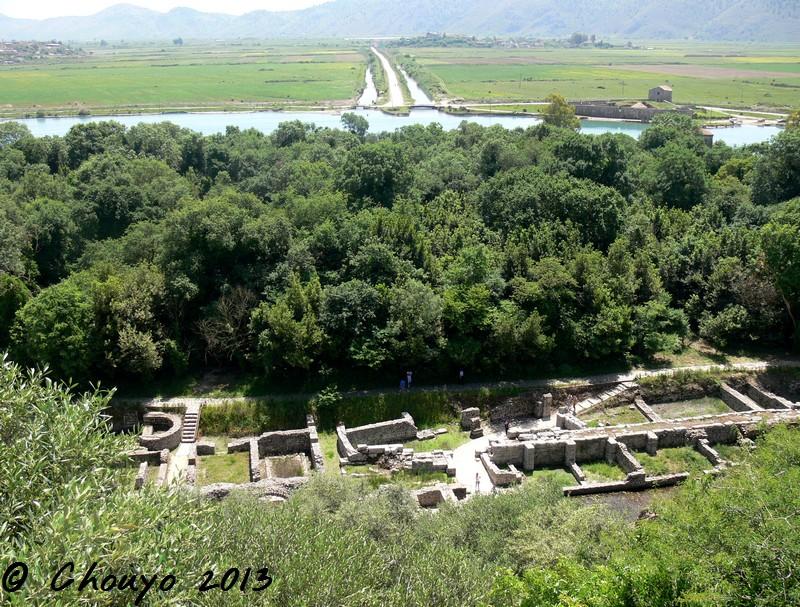 Albanie Butrint Vue ruines