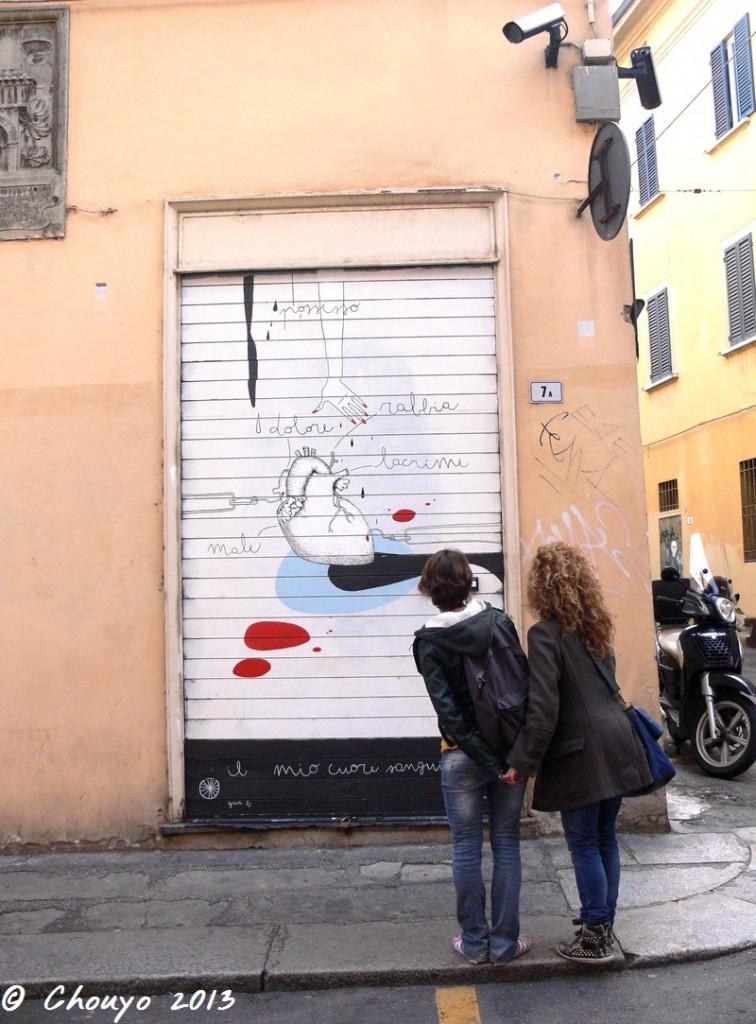 Bologne Street Art Couple